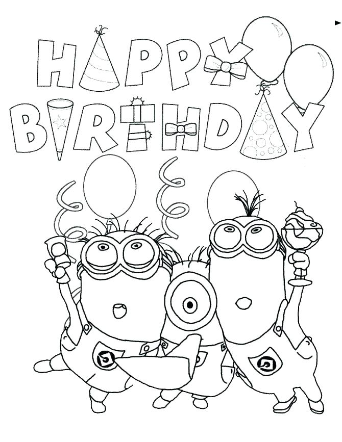 670x867 Printable Birthday Cards To Color Also Day Coloring Pages Google