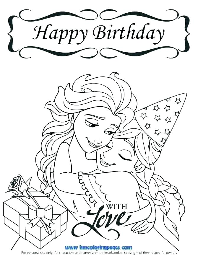 670x867 Coloring Pages Birthday Cards