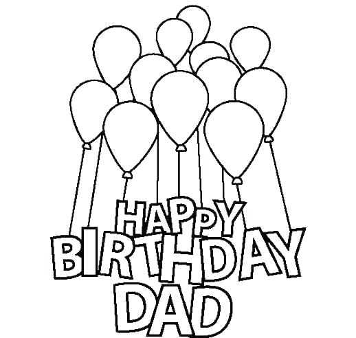 518x492 Birthday Card Coloring Page Happy Birthday Card Coloring Pages