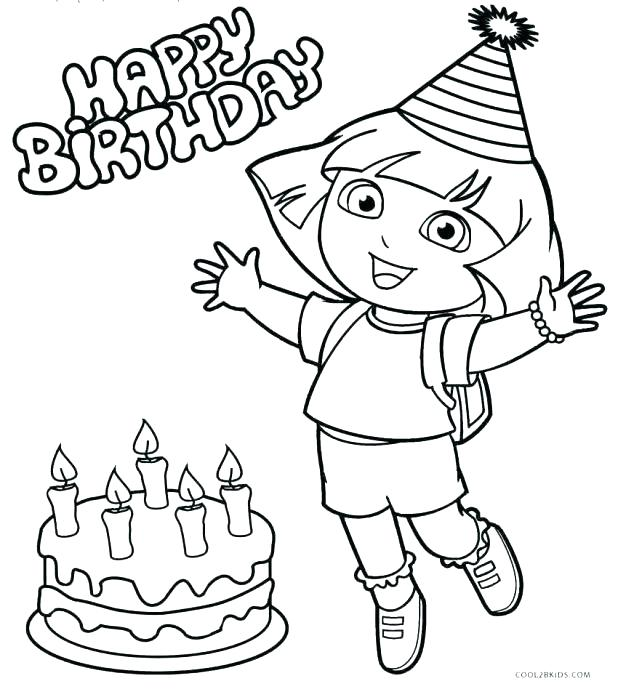 618x689 Dora Coloring Pages Birthday Coloring Pages Say Hello Page