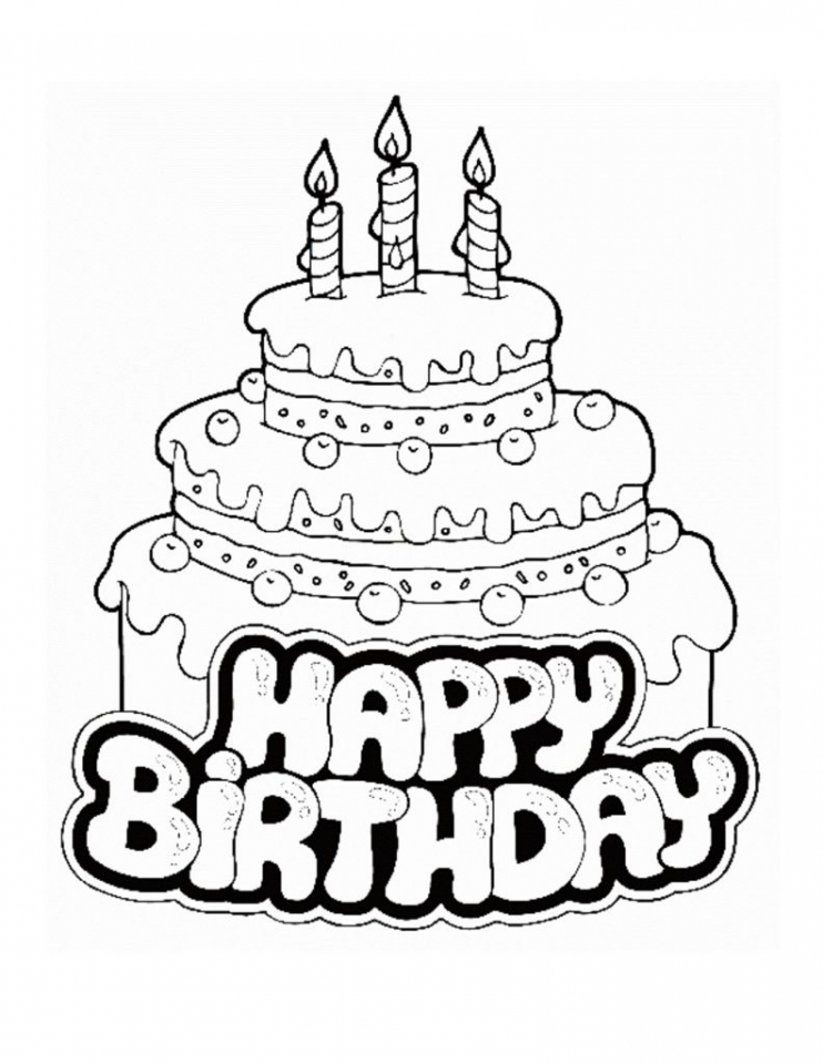 742x960 Get This Happy Birthday Coloring Pages Free Printable !