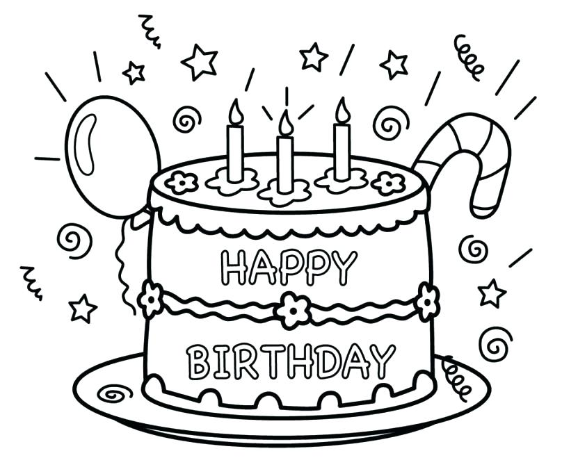808x659 Good Birthday Coloring Pages For Kids Or Happy Card Best