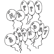 230x230 Happy Birthday Coloring Pages