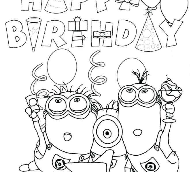 670x600 Birthday Cake Coloring Page With No Candles Printable Coloring