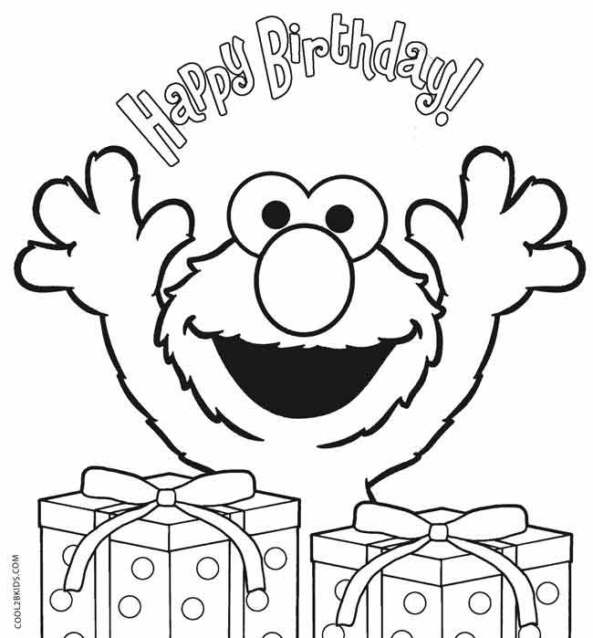 650x699 Printable Elmo Birthday Coloring Pages