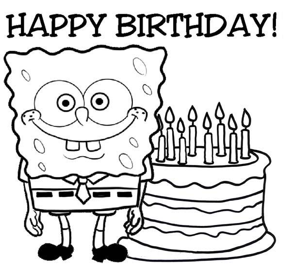 600x556 Grandma Birthday Coloring Pages Happy Birthday Coloring Pages