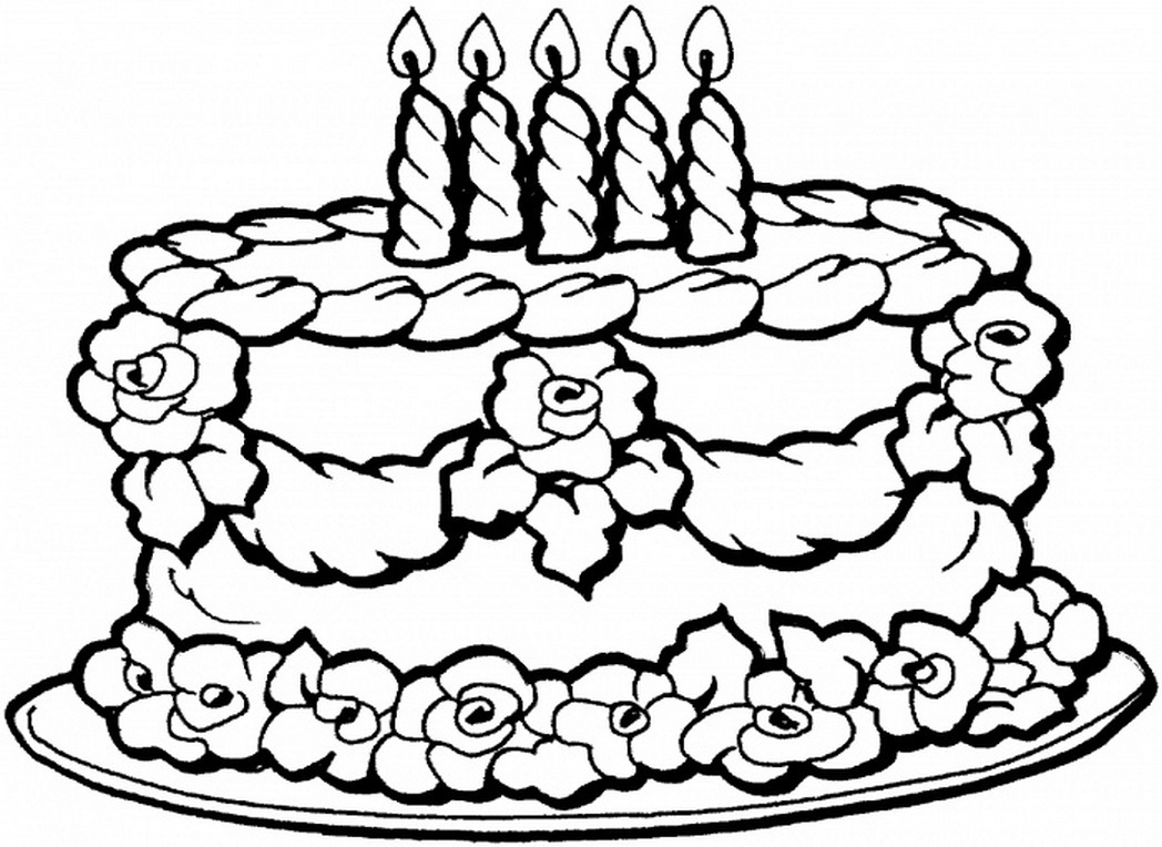 1048x764 Birthday Coloring Pages