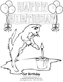 204x265 Birthday Coloring Pages
