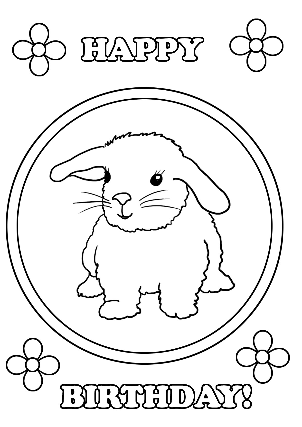 1240x1754 Birthday Coloring Pages
