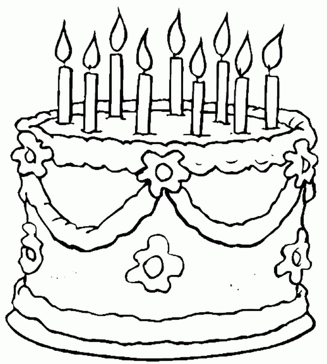 675x751 Birthday Coloring Pages For Kids Marvelous Birthday Coloring Page