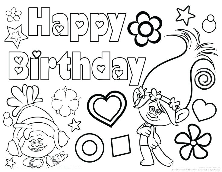 736x568 Birthday Coloring Sheets Happy Birthday Coloring Page