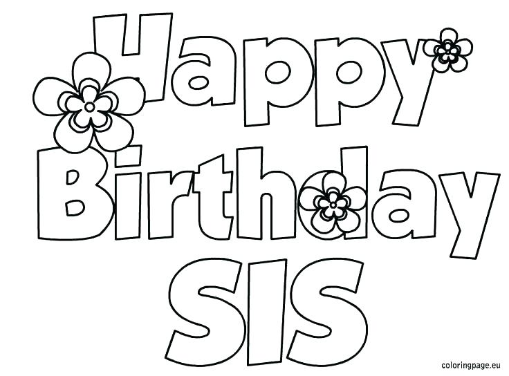 736x544 Birthday Coloring Pages Free Printable Happy Birthday Coloring