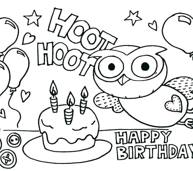 678x600 Lovely Birthday Coloring Pages For Kids Or Precious Moments