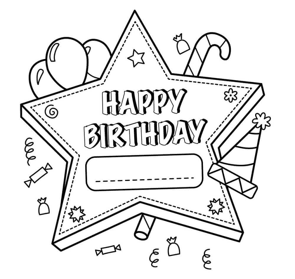 1000x948 Free Printable Happy Birthday Coloring Pages