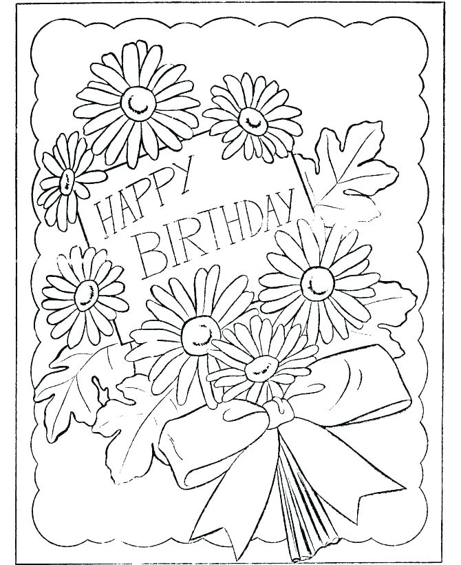 670x820 Birthday Wishes Coloring Pages Vanda