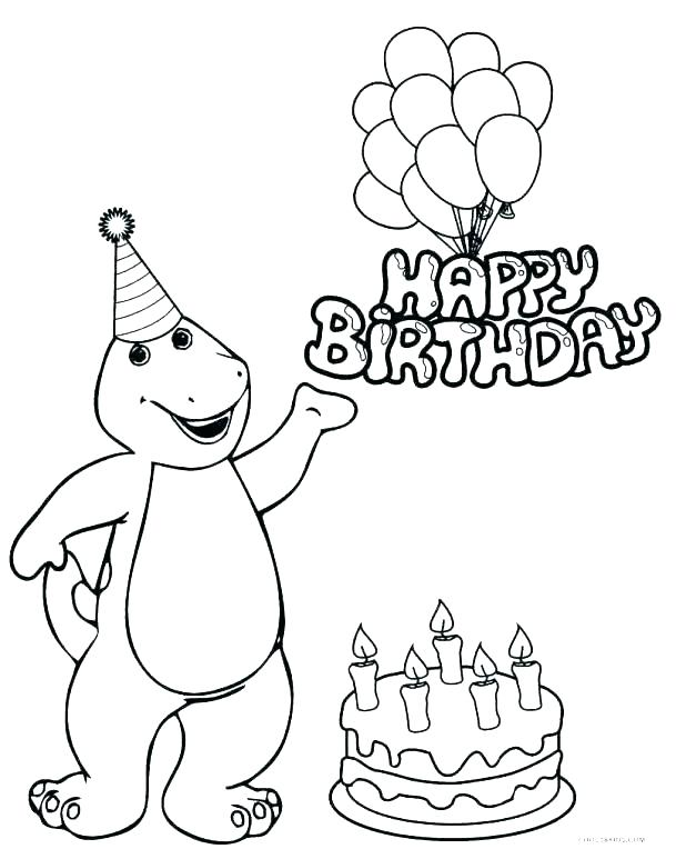 618x773 Free Birthday Coloring Pages
