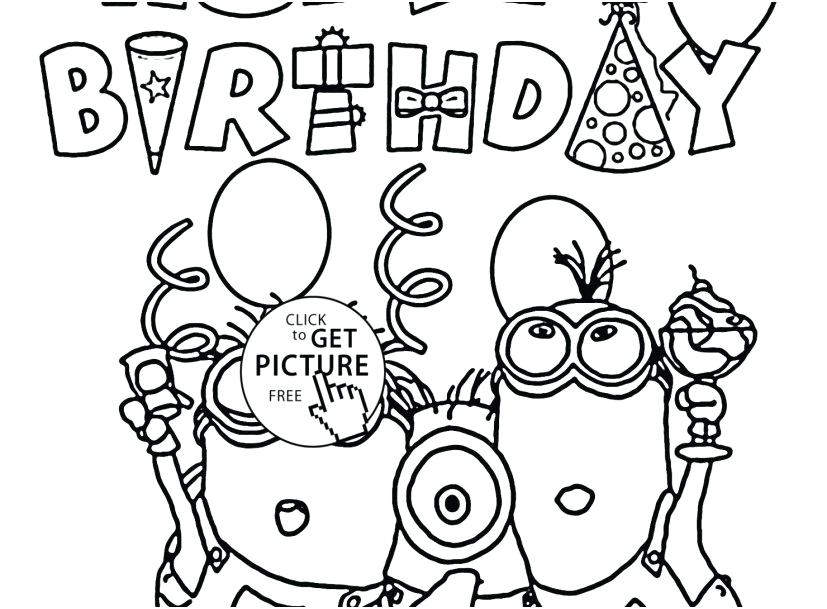 827x609 Happy Birthday Coloring Pages For Adults