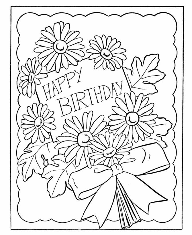 670x820 Happy Birthday Coloring Pages For Sister Birthday Coloring Pages