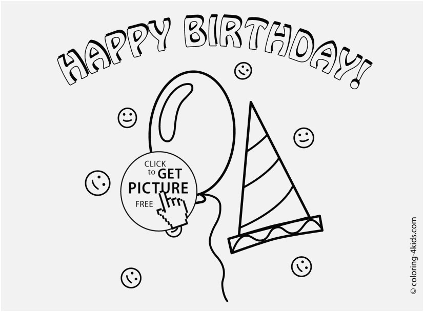 827x609 The Best Stock Coloring Pages Birthday Good Looking