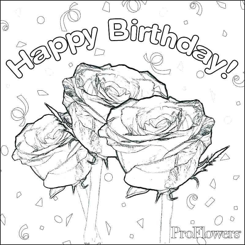 800x800 Free Birthday Coloring Pages