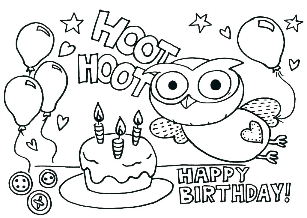 1024x727 Free Printable Birthday Coloring Pages