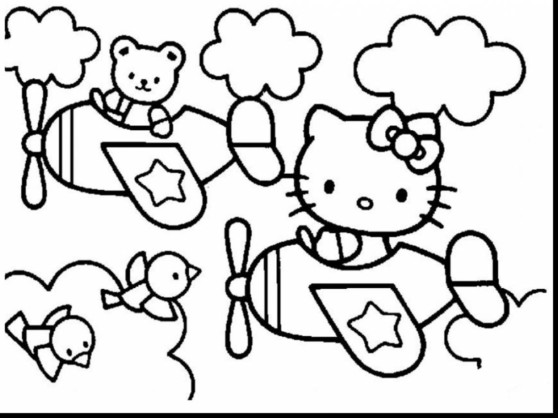 1126x844 Hello Kitty Coloring Pages Birthday Newyork Rp Hello Kitty