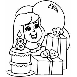 Birthday Coloring Pages For Girls