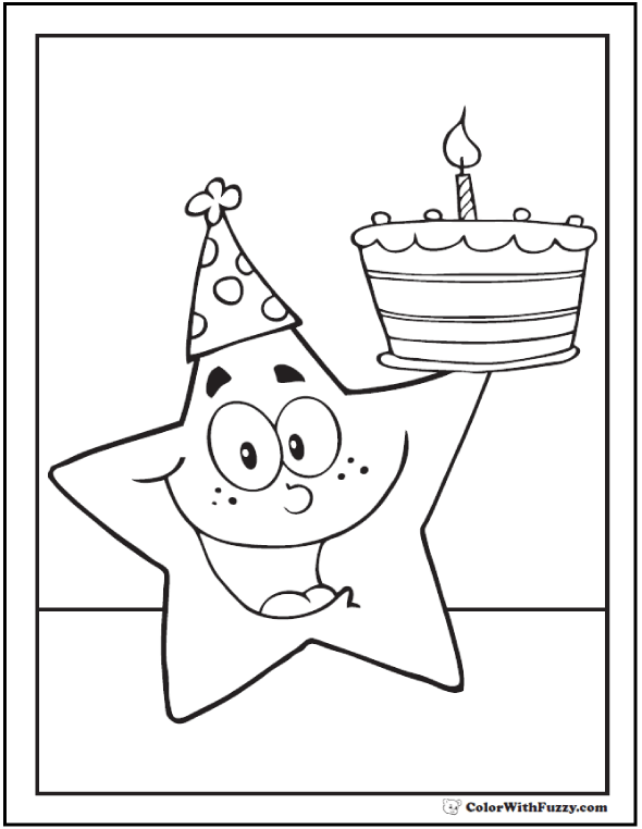 Birthday Coloring Pages For Kids At Getdrawings Com Free For
