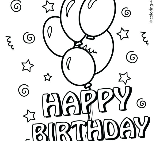 678x600 Free Printable Birthday Coloring Pages Birthday Coloring Sheets