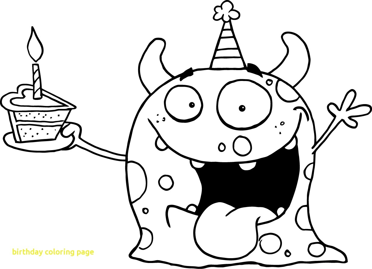 1235x894 Fresh Kids Birthday Cake For Kids Coloring Pages Printable Free
