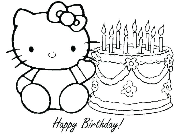 692x535 Happy Birthday Coloring Pages For Grandma Happy Birthday Coloring