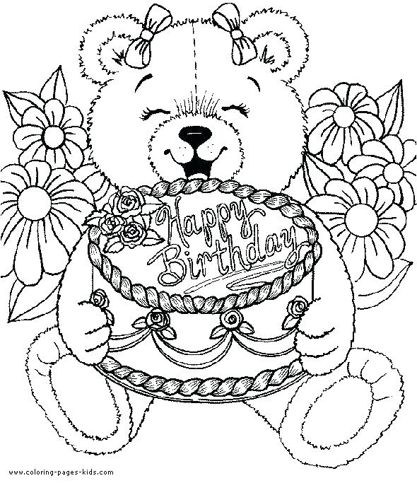 590x683 Happy Birthday Coloring Pages For Mom