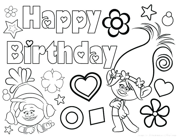 736x568 Birthday Coloring Page And Birthday Cake Coloring Page Printable