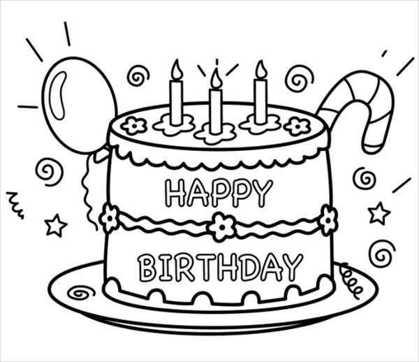 Birthday Coloring Pages To Print