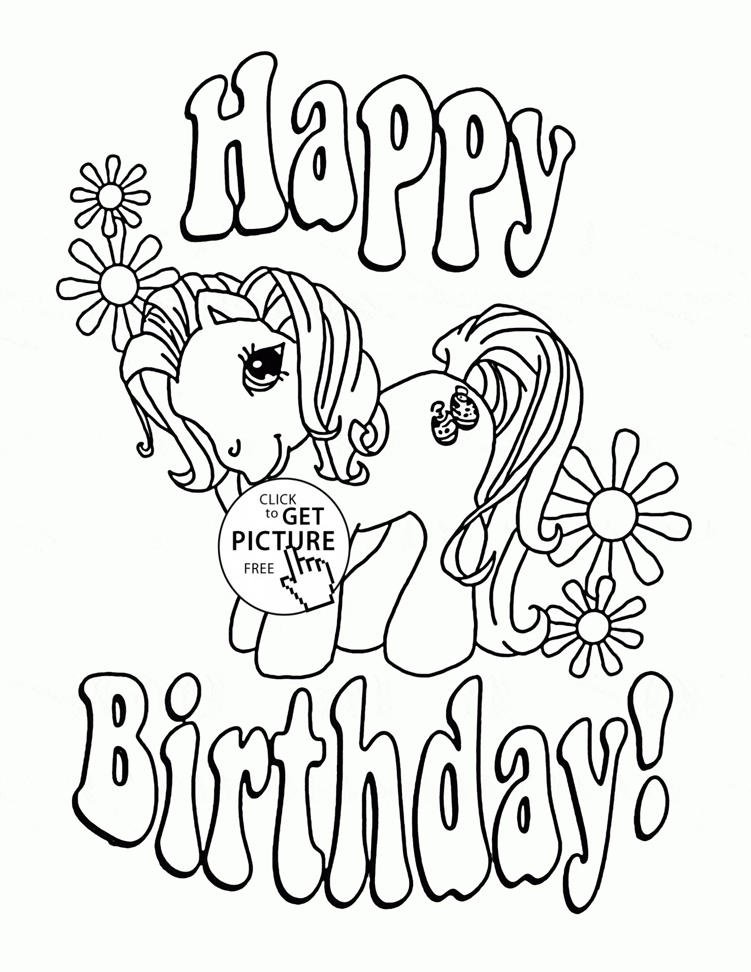 1480x1915 Cute Happy Birthday Coloring Pages Printable Coloring Book