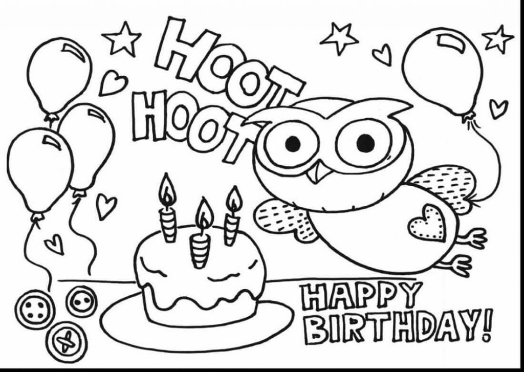 1024x727 Free Birthday Coloring Pages