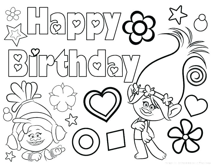 736x568 Free Birthday Coloring Pages Birthday Coloring Pages Printable