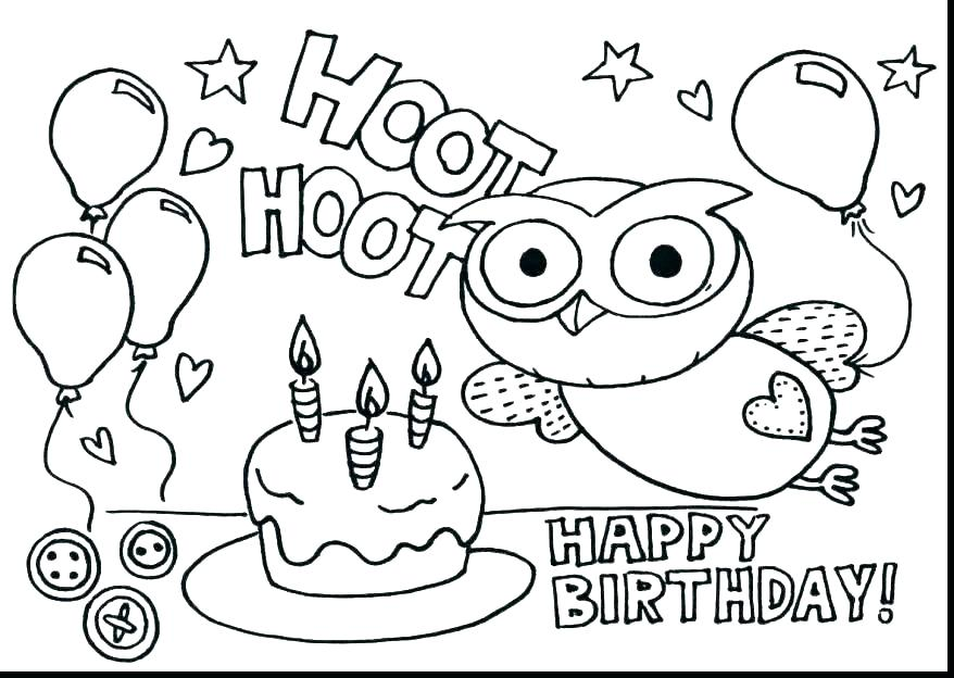 878x624 Free Printable Happy Birthday Coloring Pages Free Birthday