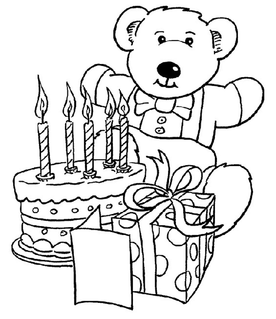 950x1098 Happy Birthday Coloring Pages