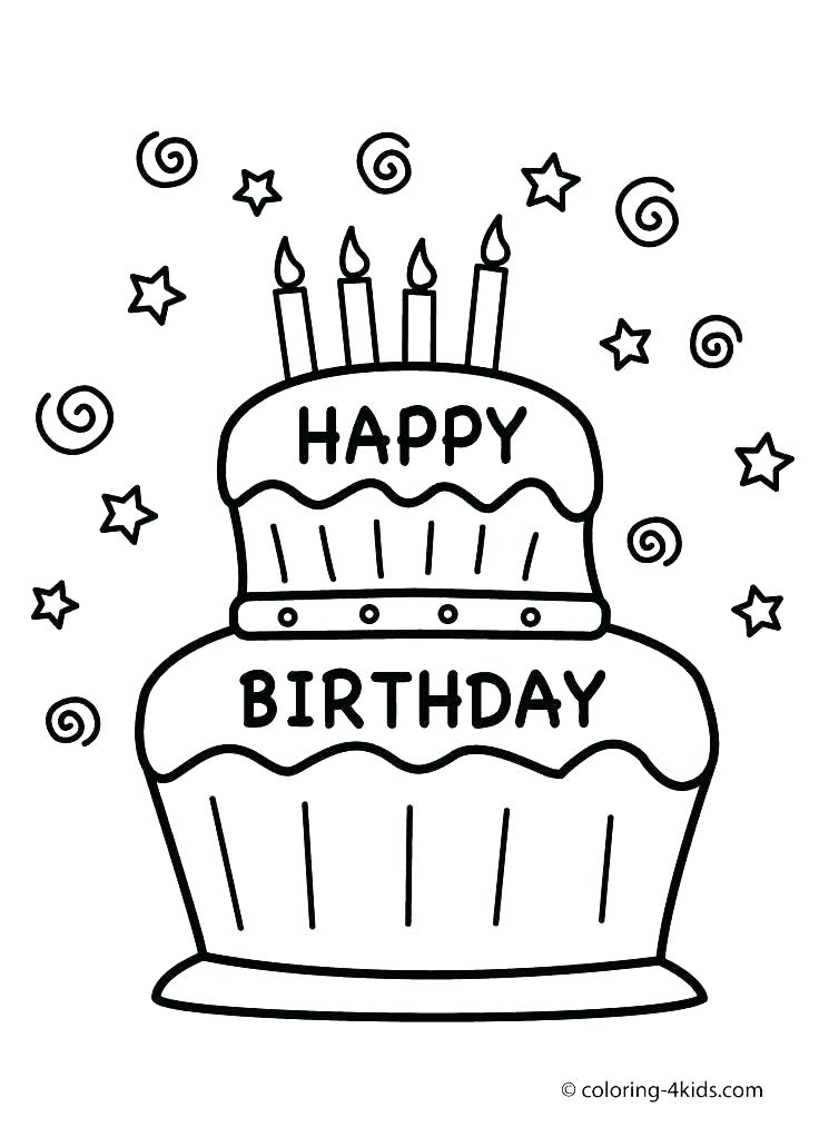 736x1031 Happy Birthday Coloring Pages Printable Happy Birthday Card Happy