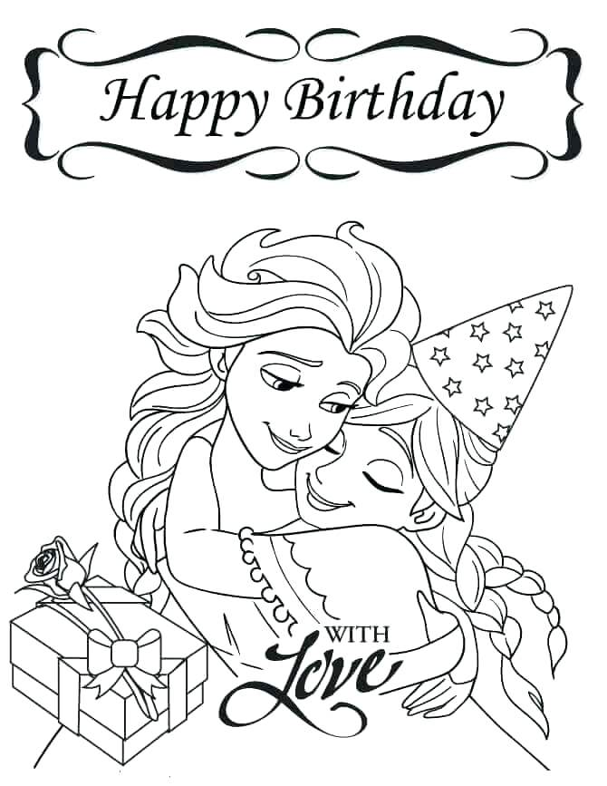 670x867 Birthday Cake Coloring Pictures Printable Coloring Free Printable