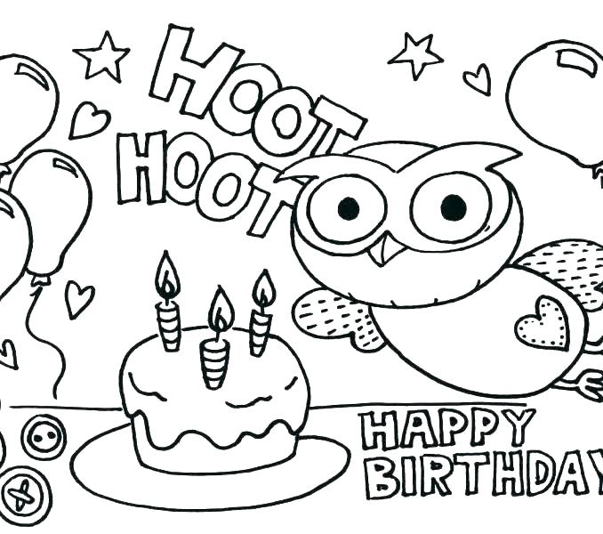678x600 Birthday Color Pages Inspirational Birthday Coloring Pages Free