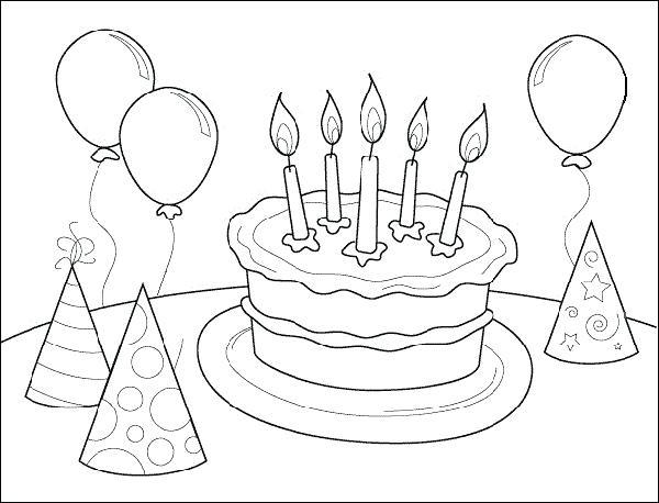 600x458 Birthday Coloring Pages Printable Free Printable Happy Birthday