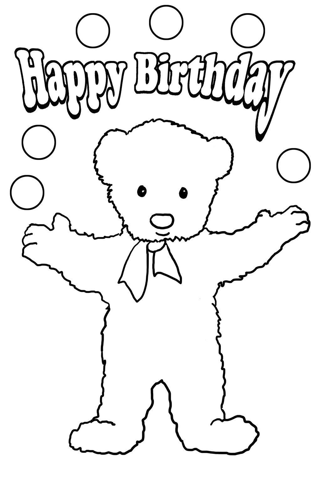 1063x1535 Birthday Coloring Pages