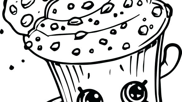 585x329 Cupcake Color Page Cupcake Coloring Pages Color Creamy Cookie