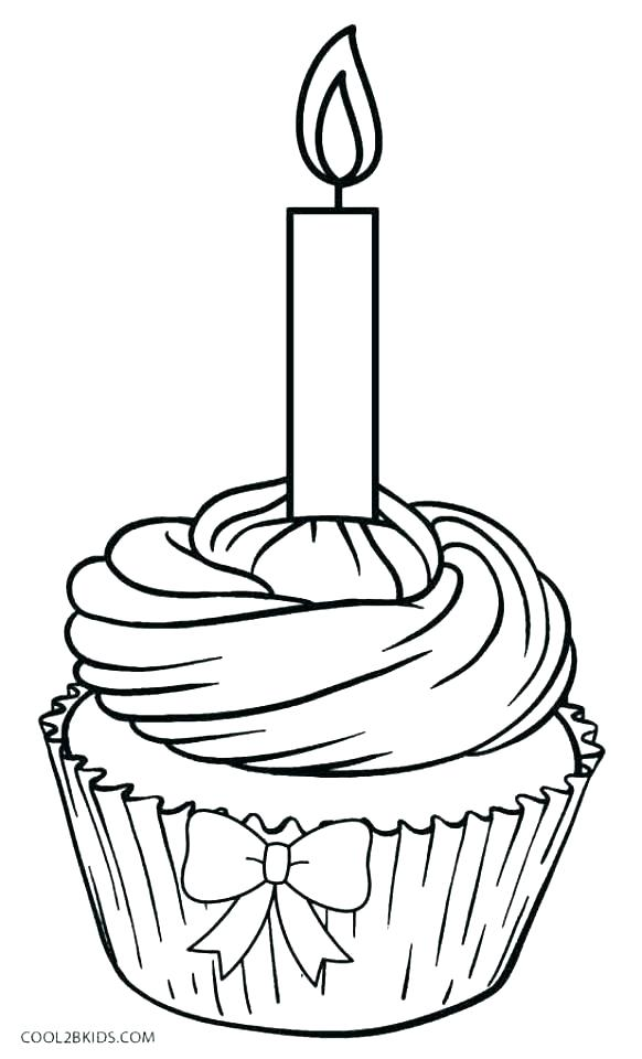 582x960 Cupcake Coloring Page Cupcake Coloring Pages Happy Birthday