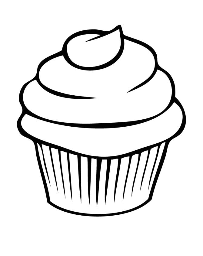 670x843 Cupcake Coloring Pages