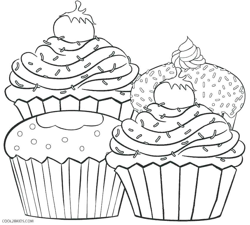 850x765 Birthday Cupcake Color Page Printable Coloring Cupcake Coloring