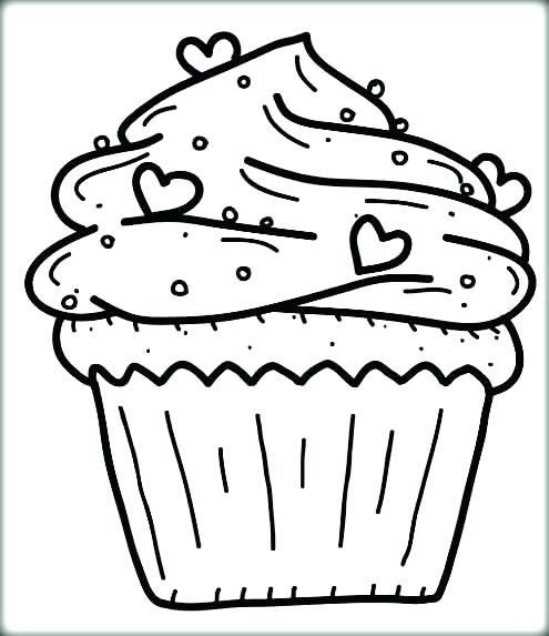 495x573 Free Printable Cupcake Coloring Pages For Kids Cupcake Coloring