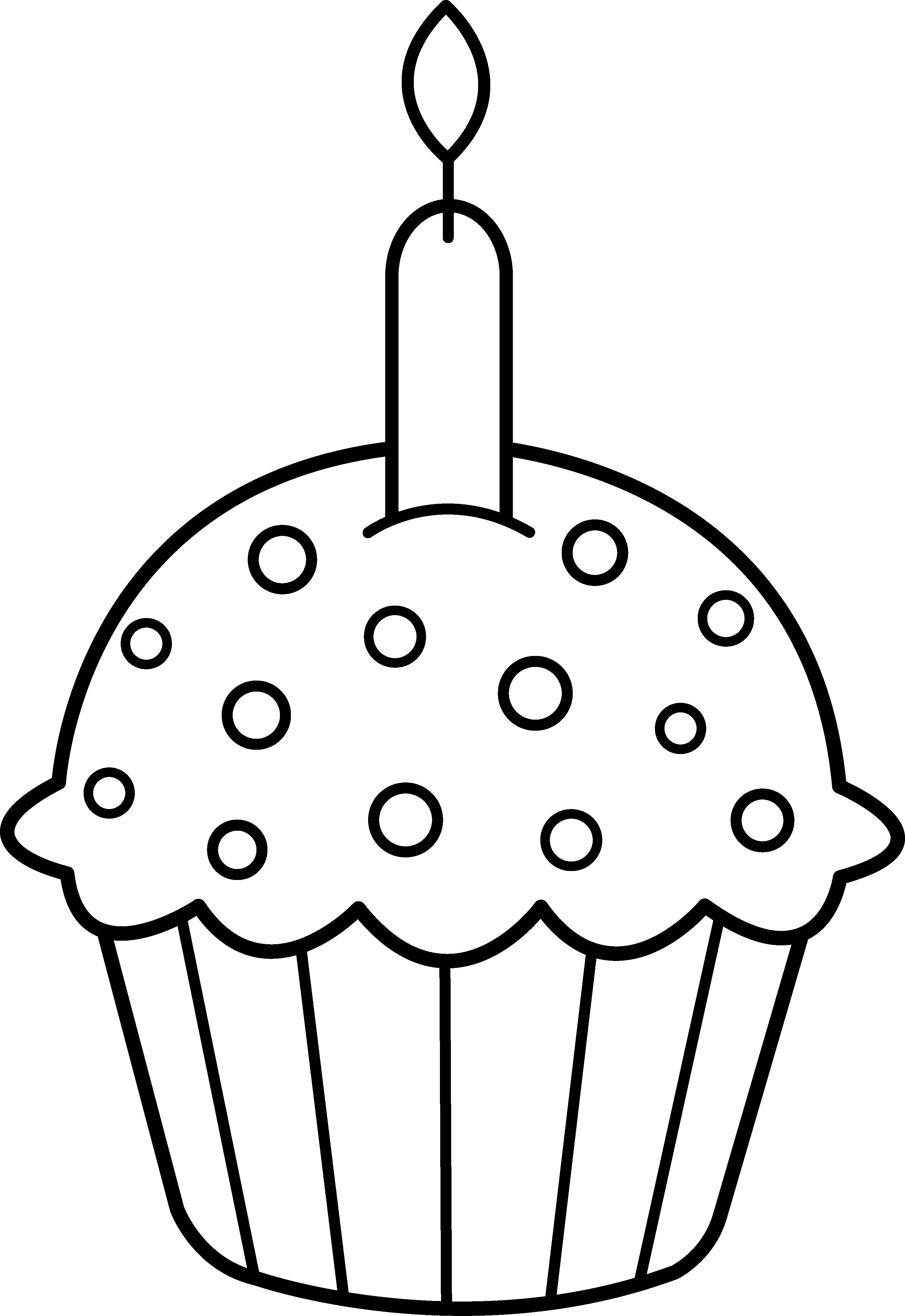 3127x4548 Birthday Cupcake Coloring Best Happy Birthday Wishes
